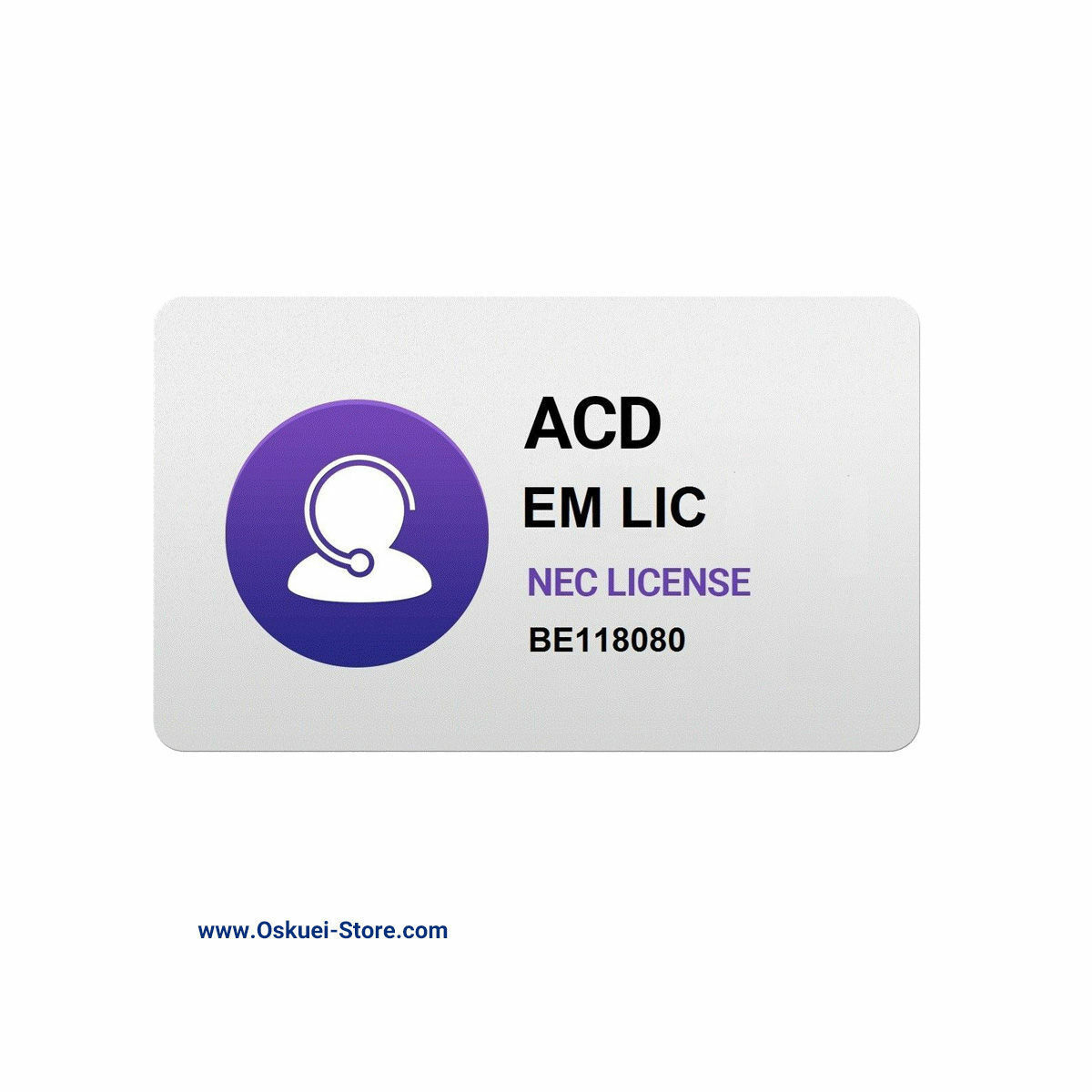 لایسنس ان ای سی مدل ACD License